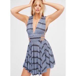 Free People Blue Mini Dress | Size S